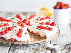 Philadelphia-Torte mit Erdbeeren und Zartbitterschokolade
