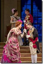 """Heidi Stober and Patrick Carfizzi star in Lyric Opera of Chicago's """"The Merry Widow"""" by Franz Lehár, directed by Susan Stroman. (photo credit: Todd Rosenberg)"""