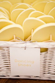 Your guests will be dancing all night at The English Manor, so provide the ladies with flip flops for tired feet!