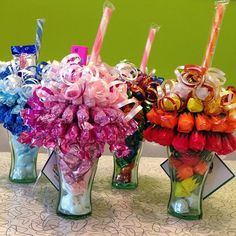 If you are looking for a fun and thoughtful homemade gift idea consider creating a custom candy bouquet perfect for many different occasions! Create one for a birthday celebration graduation gift teacher gift or to acknowledge or thank just about anyone. And most of these supplies can easily be found at your local dollar store so this idea is budget-friendly as well ->> http://sweetshotmemory.blogspot.com