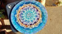 Mandala Técnica en acrílicos y Batik