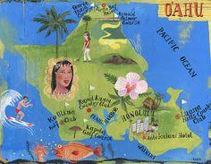 MAPS / OLAF HAJEK ILLUSTRATION - GOLF FOR WOMEN MAGAZINE