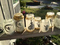 Fairy Jars, Fairy Lights, Handmade, Wedding, Home Decor, Valentines Day Weddings, Hand Made, Decoration Home