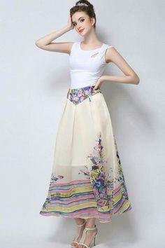 99ee47edb1fea Sheer Maxi Skirt, Maxi Skirts Online, Flowers, Zip Ups, Flower Prints,