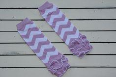 Lavender chevron legwarmers