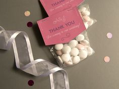 Wedding favor goodie bags. Design by Pretty in Print