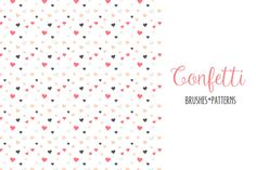 Confetti Scatter Brushes & Patterns by Elan Blog Studio on @creativemarket