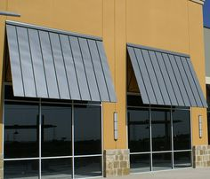 Chism Standing Seam Metal Awnings by Chism Company, via Flickr