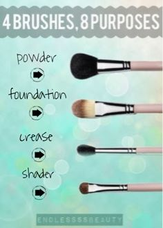 beauty tip #1 ❀ 4 makeup brushes, 8 purposes! please like, share, and pin to support me!!