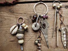 """handmade romantic tribal jewelry… Sparrow Salvage is a place for eco-frien… – Jewelry Jewelry Crafts, Jewelry Art, Jewelry Accessories, Jewelry Design, Hanging Jewelry, Gold Jewellery, Artisan Jewelry, Handmade Jewelry, Rustic Jewelry"