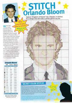 sandylandya@outlook.es Orlando Bloom Cross Stitch Chart