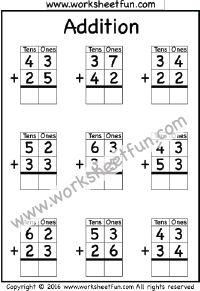 2 Digit Addition – No Regrouping – 4 Worksheets / FREE Printable Worksheets Alphabet Tracing Worksheets, 2nd Grade Math Worksheets, Free Printable Worksheets, School Worksheets, Addition With Regrouping Worksheets, Addition Words, Math Classroom, Teaching Math, Learn Math