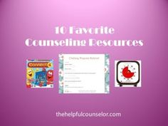 favorite elementary counseling resources