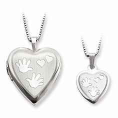 Hand and Hearts Locket & Pendant Set