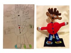 Pixie-Crafts Art dolls: kids art into dolls :)