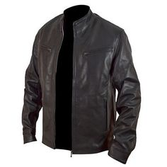 Fast And Furious 6 Vin Diesel Biker Rider Motorcycle Fashion Real Leather Jacket