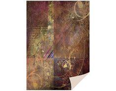 1 Bogen Kartenkarton  24 x 34cm, Ornamente braun von Zeit für Kreatives auf DaWanda.com