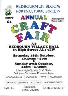 Redbourn Craft Fair - Redbourn VIllage Online Craft Stalls, Craft Fairs, Handmade, Crafts, Craft Booths, Hand Made, Manualidades, Craft, Handmade Crafts