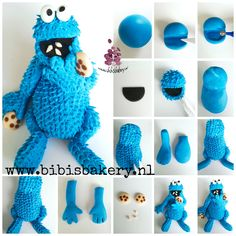 Last but not least: here is cookiemonster's pictorial. The rest of the week I will post some Sesamestreet cupcake pictorials, so please stop bye and say hi wink-emoticon xxx Bibi  https://www.facebook.com/bibisbakery.nl #bibisbakery