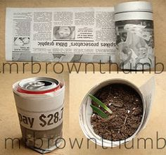 MrBrownThumb: Seed-Starting Pots From Newspaper