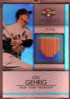 2012 Topps Triple Threads 1999 All Century Team Lou Gehrig Bat 35 36 | eBay