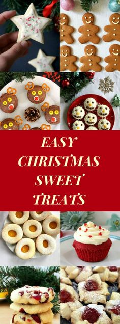 Just a few days left to Christmas, the merriest time of the year. These are the happiest moments to spend with your loved ones, so let's make the most it wih these easy Christmas treats that your little ones will adore. And the big ones too! Gingerbread Men, Snowman Cupcakes, Reindeer Cupcakes, Iced Sugar Cookies, Linzer Cookies, Thumbprint Cookies, Red Velvet Cupcakes and Cranberry Orange Shortbread Cookies - what a joy! #christmastreats , #christmasdesserts, #christmascookies, #sweettreats