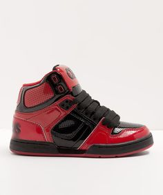 This Osiris Shoes Red & Black NYC 83 Sneaker - Toddler by Osiris Shoes is perfect! #zulilyfinds