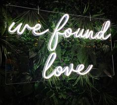Personalized Neon Signs, Custom Neon Signs, We Found Love, Neon Words, Led Neon Signs, Hello Gorgeous, Neon Lighting, Dream Wedding, Wedding Blog