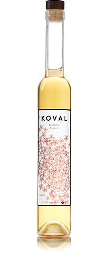 KOVAL Jasmine Liqueur. Blends well into tea and floral cocktails.  Also mixes well with champagne and prosecco.
