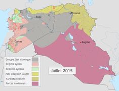 [GIF] Syrian and Iraqi insurgencies: the Fall of ISIS (in grey), from july 2015 Bagdad, Insurgent, Planer, Knowledge, History, Fall, Maps, Syria, Autumn