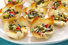 These party-perfect appetizers are always a hit. Won ton wrappers take the place of pastry in these bite-size cheesy appetizers - make a platter (or two!) for easy entertaining.