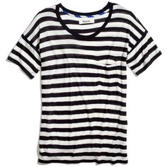 MADEWELL Slideshow Tee In Stripe ($35) ❤ liked on Polyvore