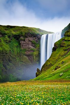The Iconic Skogafoss waterfall in Iceland. Photo by Jon Reid.  https://www.flickr.com/photos/catchlightsa/sets/72157624690947196/
