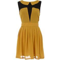 Dorothy Perkins Yellow pleat shift tunic