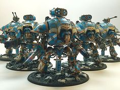 Warhammer 40k Imperial Knight Army Fully Painted & Magnetized Commission