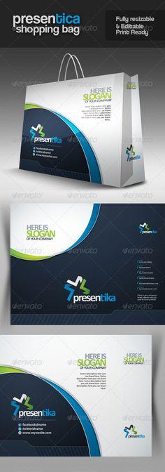 Presentica Multipurpose Shopping Bag - Packaging Print Templates