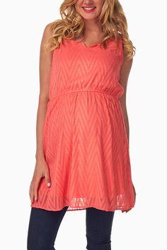 Red-Chevron-Textured-Maternity-Tank-Top #maternity #fashion