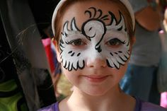 picture of dove mask face painting