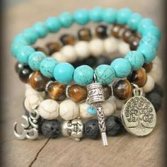 Necklace  jewerly buddha turquoise beauty