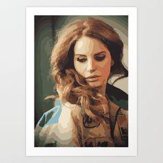 Lana Del Rey Art Print by Qups