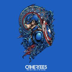 """CAPTAIN SIDE"" by JML2ART T-shirts, Tank Tops, V-necks, Hoodies and Sweatshirts are on sale until October 25th at www.OtherTees.com #tshirt #othertees #clothes #popculture #captainamerica #marvel #comics #civilwar #ironman #tonystark"