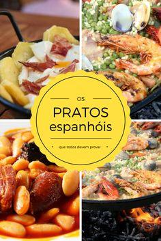 Os pratos espanhóis que você tem que provar quando vier a Espanha. Paella, Spanish Party, My Recipes, Favorite Recipes, Good Food, Yummy Food, Beef, Chicken, Cooking