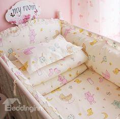 Fresh Look Bears and Socks Pattern 10-Piece Crib Bedding Set http://www.beddinginn.com/product/Fresh-Look-Bears-And-Socks-Pattern-10-Piece-Crib-Bedding-Set-11540206.html, check there: http://www.beddinginn.com/Custom-Crib-Bedding-Sets-106066/