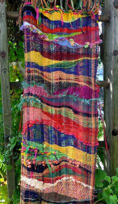 Sunshine Road Saori Wall Hanging by JeriGillinWeaving on Etsy, $175.00