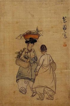 Korean Traditional art by Shin Yun-bok Korean Painting, Japanese Painting, Chinese Painting, Chinese Art, Japanese Art, Japanese Crane, Korean Traditional, Traditional Art, Traditional Clothes