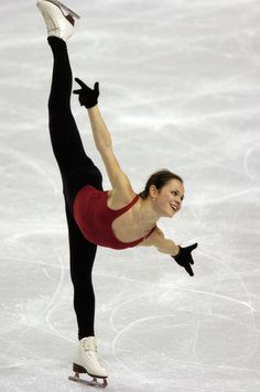 Sasha Cohen trains at the 2006 Olympics