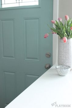 How to Pick the Perfect Front Door Color | DIY Playbook     Paint the inside too!