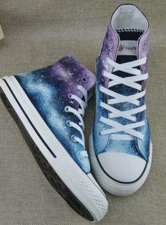 2b83fa5ae7a7 2016 Galaxy Sneakers Custom Painted Galaxy Shoes