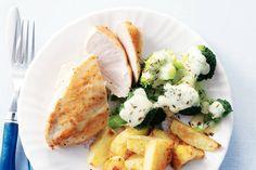 Kijk wat een lekker recept ik heb gevonden op Allerhande! Broccoli, kip & kaassaus