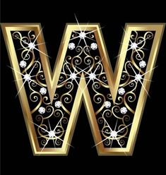 Illustration of W gold letter with swirly ornaments vector art, clipart and stock vectors. Alphabet Wallpaper, Alphabet And Numbers, Alphabet Letters, Gold Letters, Initial Letters, Banner Printing, Image Photography, Lettering Design, Purple Gold